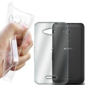 Sony Xperia E4G silikon skal transparent