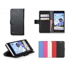 Mobilplånbok 2-kort Huawei Ascend P6 (P6-U06)