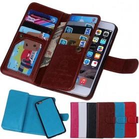 Dubbelflip Magnet 2 i 1 iPhone 7 / 8 9-kort fodral mobilskal väska