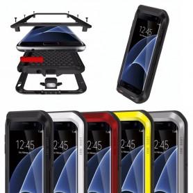 LOVE MEI Powerful Samsung Galaxy S7 Edge metall mobilskal