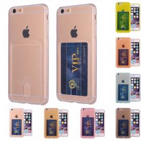 Silikon skal med kortplats iPhone 5