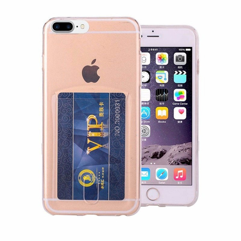 Silikon skal med kortplats iPhone 7 Plus   8 Plus mobilskal 9f2763b5f1c4b
