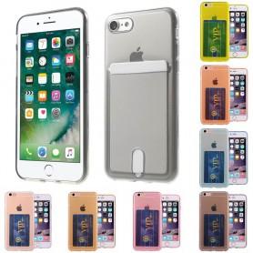 Silikon skal med kortplats iPhone 7, 8 mobilskal