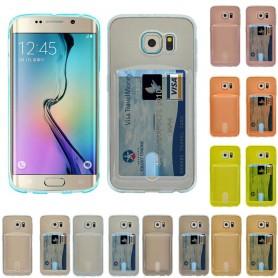 Silikon skal med kortplats Galaxy S6 Edge Plus