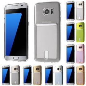 Silikon skal med kortplats Galaxy S7 Edge