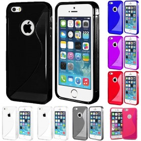 S Line silikon skal Apple iPhone 5, 5S, 5SE