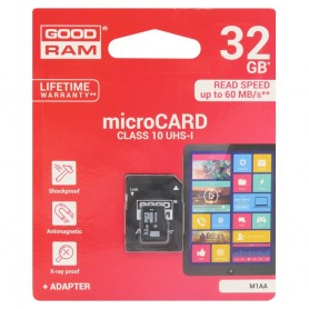 GOODRAM 32Gb Micro SD med adapter Klass 10