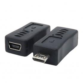 Adapter USB B Micro Hane till USB B Mini Hona