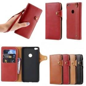 Retro Mobilplånbok Huawei Honor 8 Lite/P8 Lite 2017