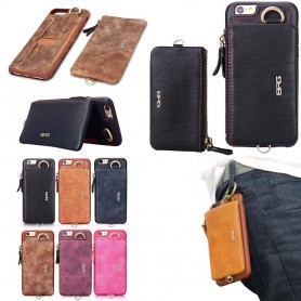 BRG skal 2i1 med avtagbar plånbok Apple iPhone 6+, 6S+ CaseOnline