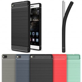 Borstat silikon TPU skal Huawei P8 Lite ALE-L21 CaseOnline.se