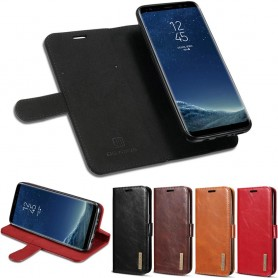 DG-Ming äkta läder mobilplånbok 2i1 Samsung Galaxy S8 Plus