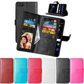 Dubbelflip Flexi 9-kort Huawei P10 Lite mobilplånbok CaseOnline.se