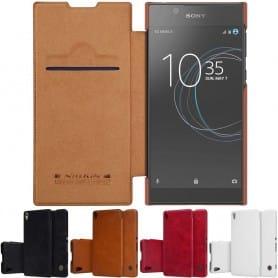 Nillkin Qin FlipCover Sony Xperia L1 mobilskal skydd CaseOnline.se