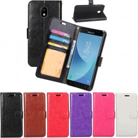 Mobilplånbok 3-kort Samsung Galaxy J5 2017 SM-J530F mobil skal skydd fodral