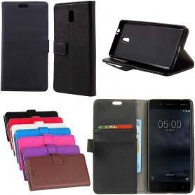 Mobilplånbok 2-kort Nokia 3 mobil skal fodral skydd CaseOnline