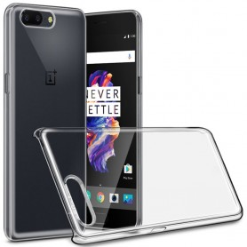 Clear Hard Case OnePlus 5 transparent skal mobil skydd