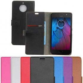 Mobilplånbok 2-kort Motorola Moto G5S mobilskal silikon tillbehör skydd caseonline