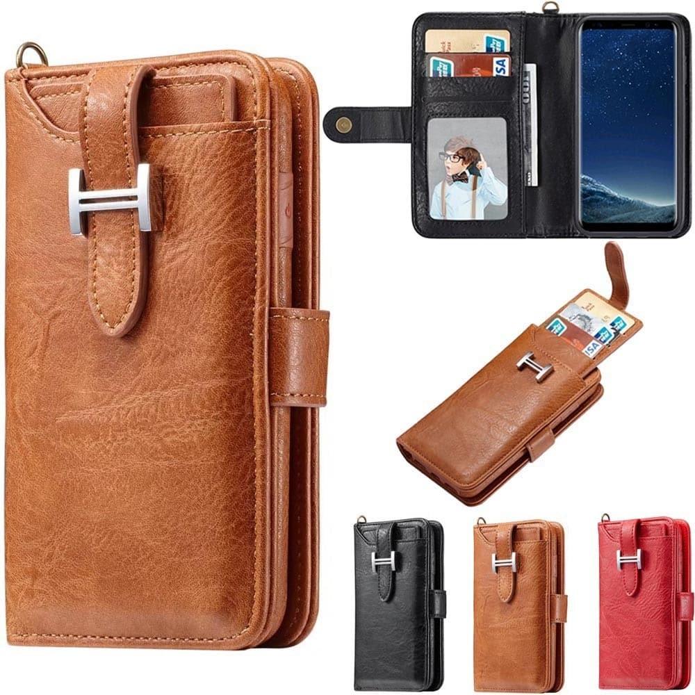 Multiplånbok 3i1 9-kort Samsung Galaxy S8 Plus SM-G955F mobilplånbok fodral  skal dd87d1ebdaf7a