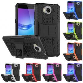 Stöttåligt skal med ställ Huawei Y6 2017 MYA-L41 mobilskal silikon skydd fodral