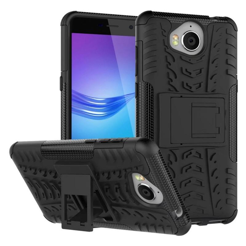 Stöttåligt skal med ställ Huawei Y6 2017 MYA-L41 mobilskal silikon skydd  fodral ab8ede15d08b3
