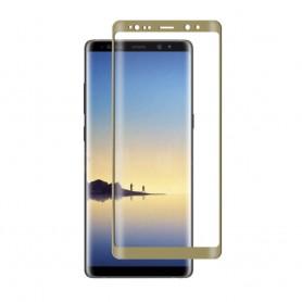 3D Curved glas skärmskydd Samsung Galaxy Note 8 guld displayskydd heltäckande
