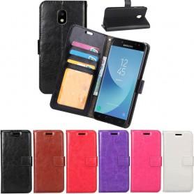 Mobilplånbok 3-kort Samsung Galaxy J7 2017 SM-J730F mobil skal skydd fodral