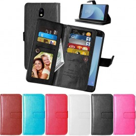 Dubbelflip Flexi 9-kort mobilplånbok Samsung Galaxy J3 2017 SM-J330F