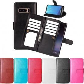 Dubbelflip Flexi Samsung Galaxy Note 8 mobilplånbok mobilskal fodral 9kort