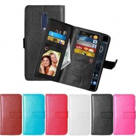 Dubbelflip Flexi 9kort Nokia 5 mobilplånbok fodral väska skydd