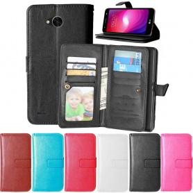 Dubbelflip Flexi 9kort LG X Power 2 mobilplånbok fodral väska mobilskal