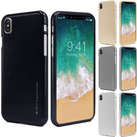 Mercury i Jelly Metal skal Apple iPhone X mobilskal silikon tpu