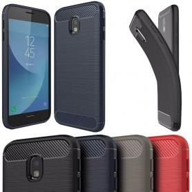 Borstat silikon TPU skal Samsung Galaxy J7 2017 SM-J730 mobilskal skydd