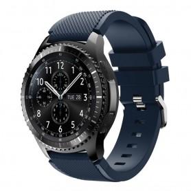 Silikon Sport Armband Samsung Gear S3 Frontier - S3 Classic (Mblå)