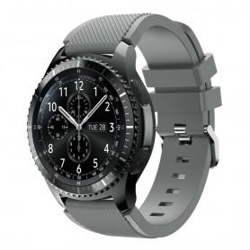 Silikon Sport Armband Samsung Gear S3 Frontier - S3 Classic (Grå)