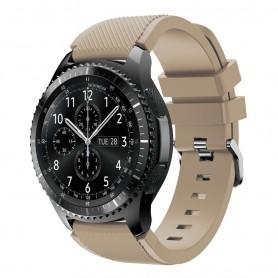 Silikon Sport Armband Samsung Gear S3 Frontier - S3 Classic (Beige)