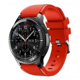 Silikon Sport Armband Samsung Gear S3 Frontier - S3 Classic (Röd)