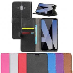 Mobilplånbok 2-kort silikon ram Huawei Mate 10 mobilskal fodral