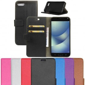 Mobilplånbok 2-kort silikon ram Asus Zenfone 4 Max ZC554KL mobilskal fodral väska