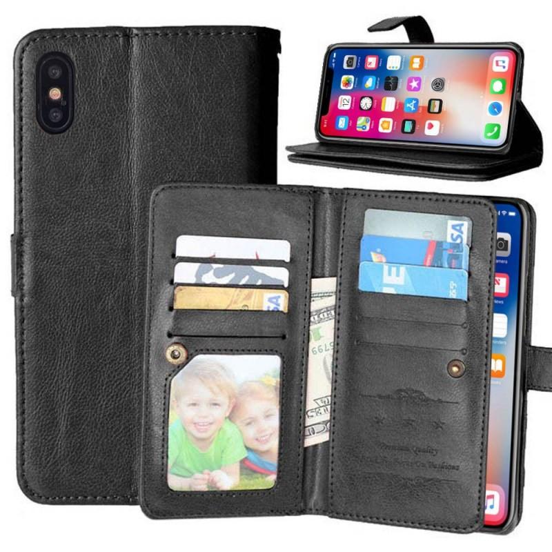 Dubbelflip Flexi 9 kort Apple iPhone X mobilplånbok fodral väska skydd 2b496c5424796
