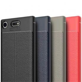 Sony Xperia XZ1 Compact Läder mönstrat silikon TPU skal mobilskal skydd baksida fodral