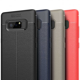Samsung Galaxy Note 8 Läder mönstrat silikon TPU mobilskal skydd fodral baksida
