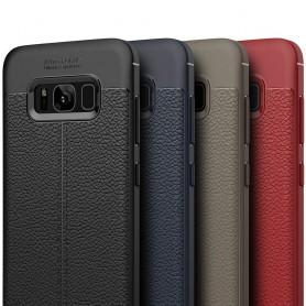 Samsung Galaxy S8 Plus Läder mönstrat silikon TPU mobilskal fodral skydd