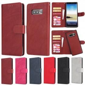Magnetisk 2i1 mobilplånbok retro Samsung Galaxy Note 8 fodral väska avtagbart mobilskal