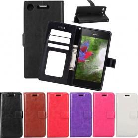 Mobilplånbok 3-kort Sony Xperia XZ1 G8341 mobilskal fodral väska skydd