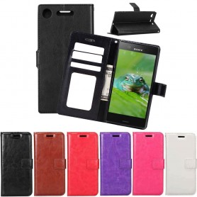 Mobilplånbok 3-kort Sony Xperia XZ1 Compact G8441 mobilskal fodral väska skydd