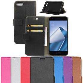 Mobilplånbok 2-kort silikon ram Asus Zenfone 4 ZE554KL mobilskal fodral väska