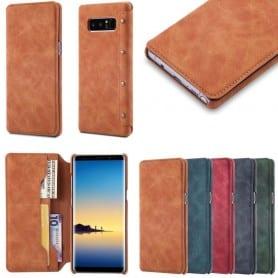 Mobilplånbok Slim PU Samsung Galaxy Note 8 mobilskal mocka
