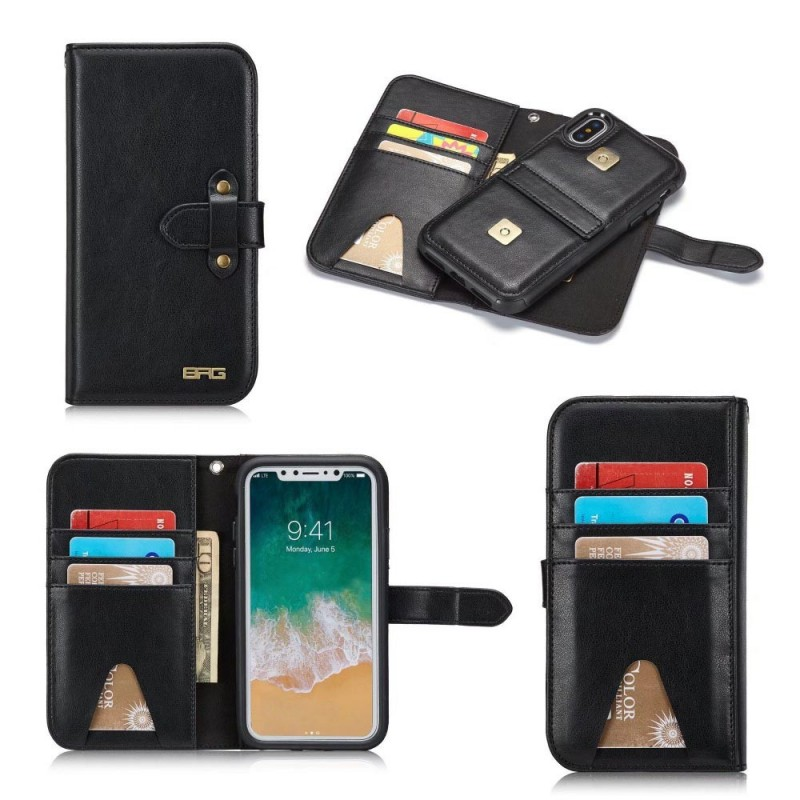 BRG 2i1 6-kort magnetisk mobilskal Apple iPhone X fodral skydd 456c3cdcb3954