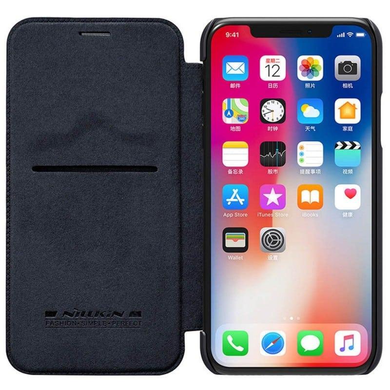 Köp FlipCover Nillkin Qin Series Apple iPhone X   Xs hos CaseOnline.se 90aeecfa7bb49